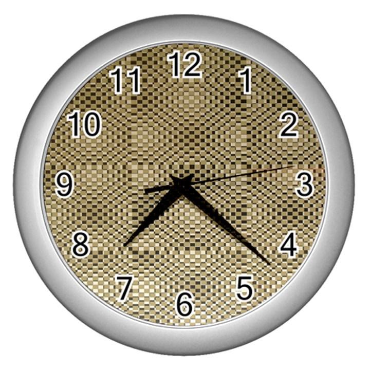 Fashion Style Glass Pattern Wall Clocks (Silver)