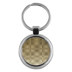 Fashion Style Glass Pattern Key Chains (Round)