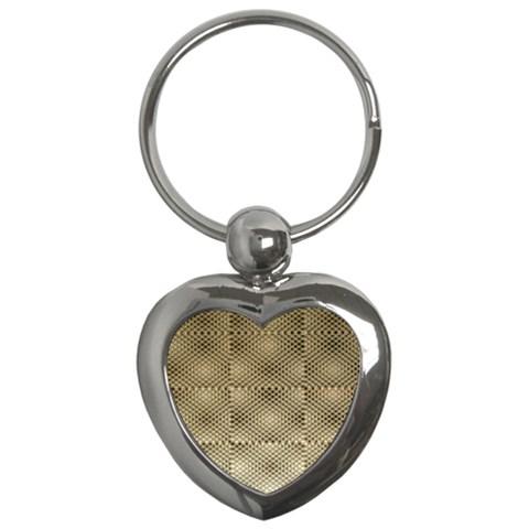 Fashion Style Glass Pattern Key Chains (Heart)