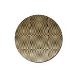 Fashion Style Glass Pattern Rubber Coaster (Round)  Front