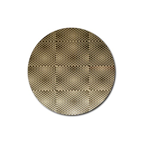 Fashion Style Glass Pattern Rubber Round Coaster (4 pack)