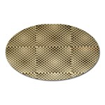 Fashion Style Glass Pattern Oval Magnet Front
