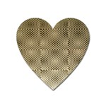 Fashion Style Glass Pattern Heart Magnet Front
