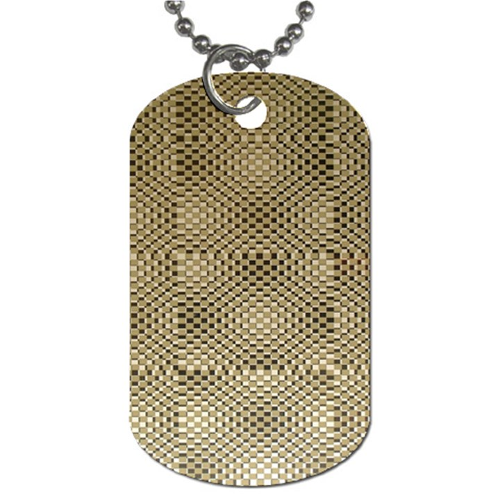Fashion Style Glass Pattern Dog Tag (One Side)