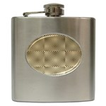 Fashion Style Glass Pattern Hip Flask (6 oz) Front