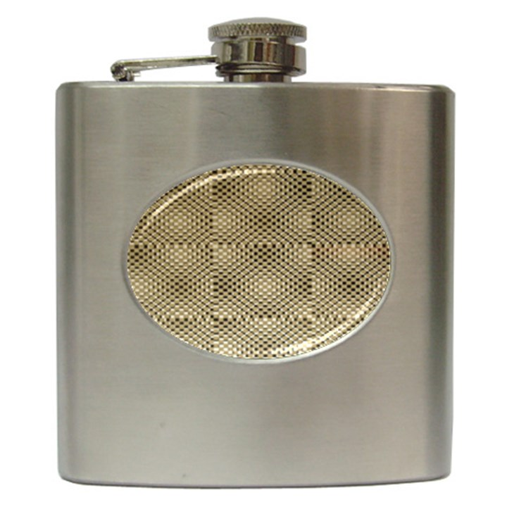 Fashion Style Glass Pattern Hip Flask (6 oz)