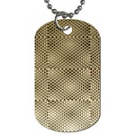 Fashion Style Glass Pattern Dog Tag (Two Sides) Back