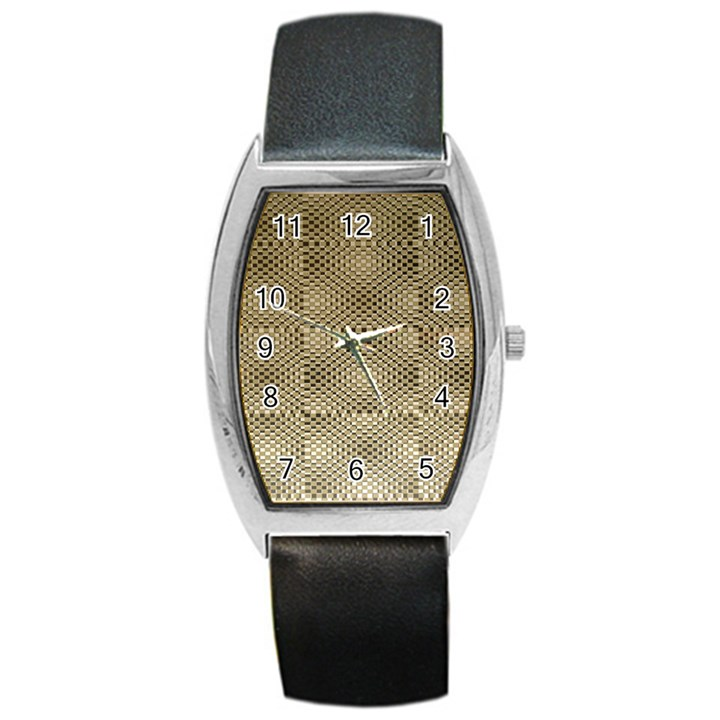 Fashion Style Glass Pattern Barrel Style Metal Watch