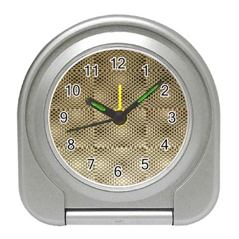 Fashion Style Glass Pattern Travel Alarm Clocks