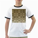 Fashion Style Glass Pattern Ringer T-Shirts Front