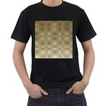 Fashion Style Glass Pattern Men s T-Shirt (Black) (Two Sided) Front