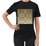 Fashion Style Glass Pattern Women s T-Shirt (Black) (Two Sided) Front