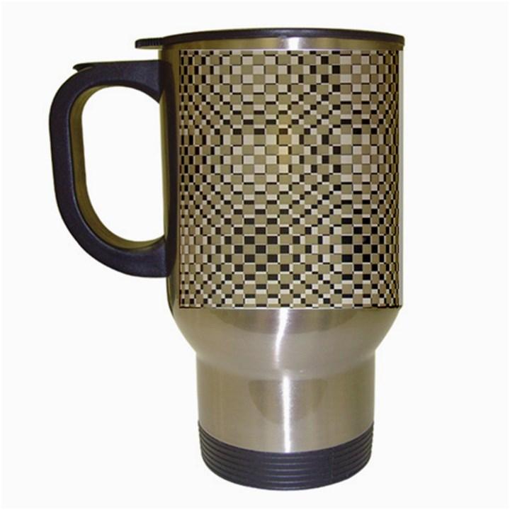 Fashion Style Glass Pattern Travel Mugs (White)