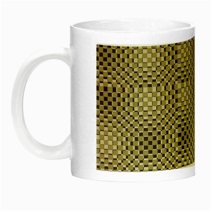 Fashion Style Glass Pattern Night Luminous Mugs
