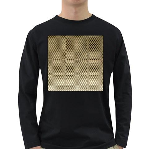 Fashion Style Glass Pattern Long Sleeve Dark T-Shirts