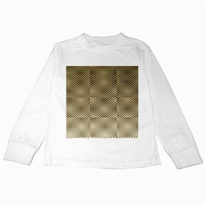 Fashion Style Glass Pattern Kids Long Sleeve T-Shirts