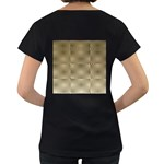 Fashion Style Glass Pattern Women s Loose-Fit T-Shirt (Black) Back