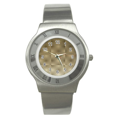 Fashion Style Glass Pattern Stainless Steel Watch