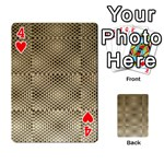 Fashion Style Glass Pattern Playing Cards 54 Designs  Front - Heart4