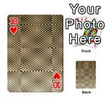 Fashion Style Glass Pattern Playing Cards 54 Designs  Front - Heart10