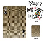 Fashion Style Glass Pattern Playing Cards 54 Designs  Front - Spade5