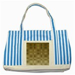Fashion Style Glass Pattern Striped Blue Tote Bag Front