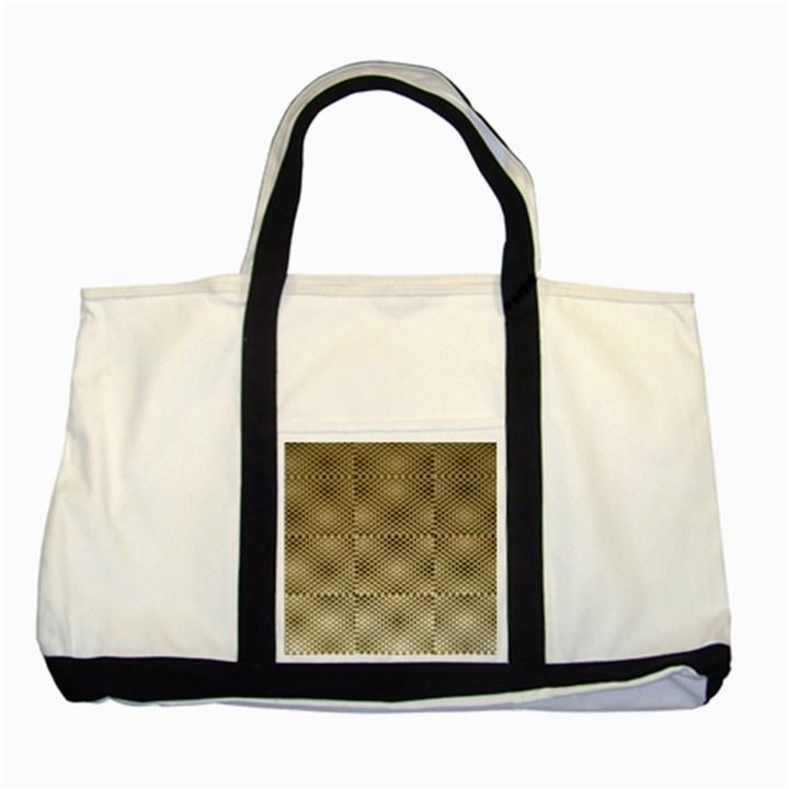 Fashion Style Glass Pattern Two Tone Tote Bag