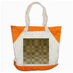 Fashion Style Glass Pattern Accent Tote Bag Front