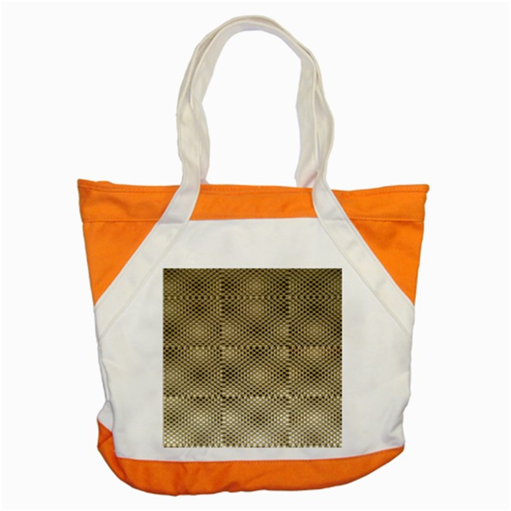 Fashion Style Glass Pattern Accent Tote Bag