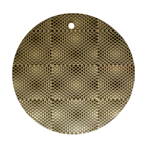 Fashion Style Glass Pattern Round Ornament (Two Sides)