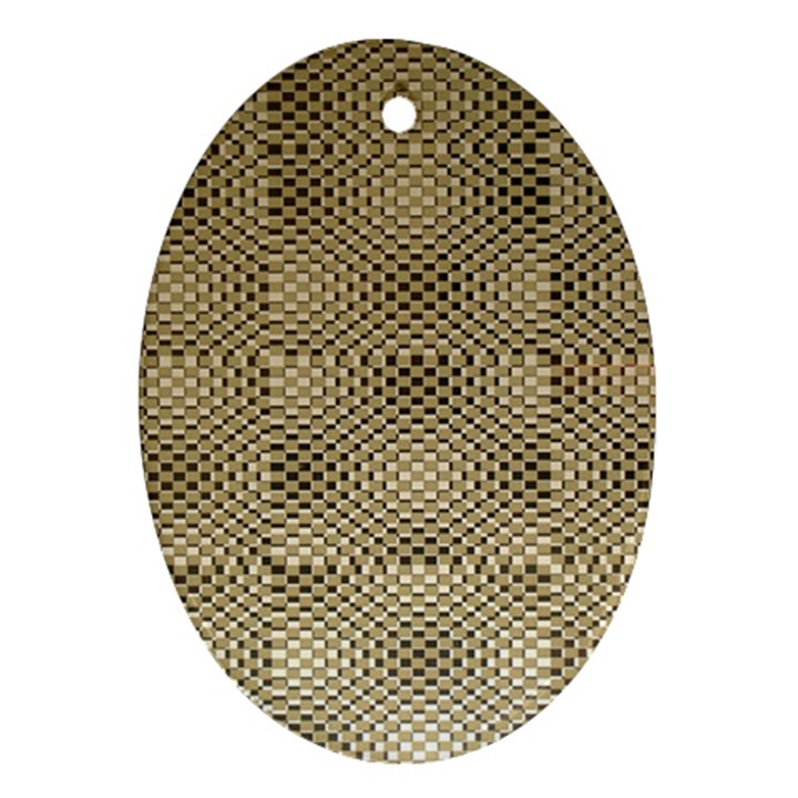 Fashion Style Glass Pattern Oval Ornament (Two Sides)