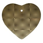 Fashion Style Glass Pattern Heart Ornament (2 Sides) Front