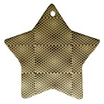 Fashion Style Glass Pattern Star Ornament (Two Sides)  Front
