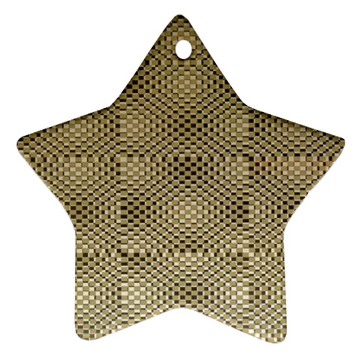 Fashion Style Glass Pattern Star Ornament (Two Sides)