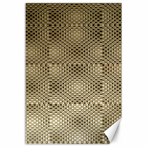 Fashion Style Glass Pattern Canvas 12  x 18