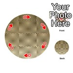 Fashion Style Glass Pattern Playing Cards 54 (Round)  Front - HeartQ