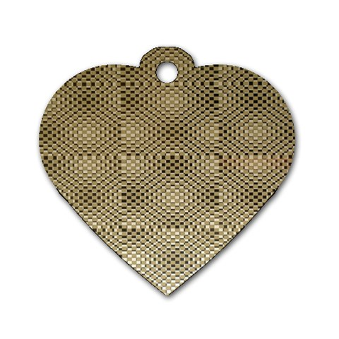 Fashion Style Glass Pattern Dog Tag Heart (Two Sides)