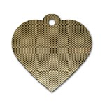 Fashion Style Glass Pattern Dog Tag Heart (Two Sides) Front