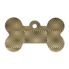 Fashion Style Glass Pattern Dog Tag Bone (Two Sides)
