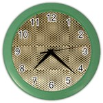 Fashion Style Glass Pattern Color Wall Clocks Front