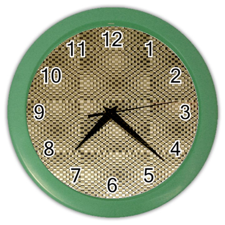 Fashion Style Glass Pattern Color Wall Clocks