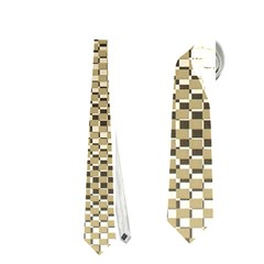 Fashion Style Glass Pattern Neckties (One Side)