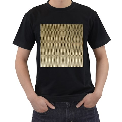 Fashion Style Glass Pattern Men s T-Shirt (Black)