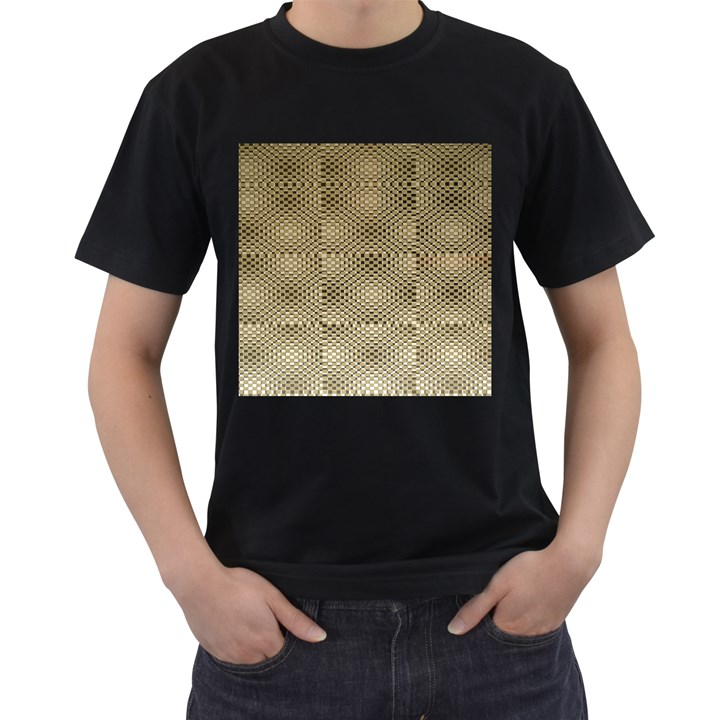 Fashion Style Glass Pattern Men s T-Shirt (Black)