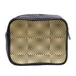 Fashion Style Glass Pattern Mini Toiletries Bag 2-Side Back