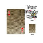 Fashion Style Glass Pattern Playing Cards 54 (Mini)  Front - Heart9