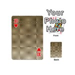 Fashion Style Glass Pattern Playing Cards 54 (Mini)  Front - Heart10