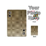 Fashion Style Glass Pattern Playing Cards 54 (Mini)  Front - Spade10