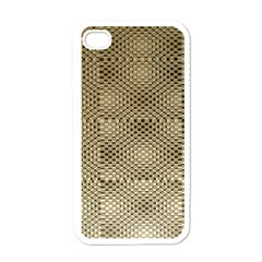 Fashion Style Glass Pattern Apple iPhone 4 Case (White)