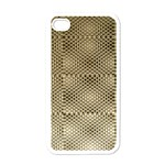 Fashion Style Glass Pattern Apple iPhone 4 Case (White) Front